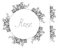 Rose flowers frame and design elements for card or invitation Stock Photography