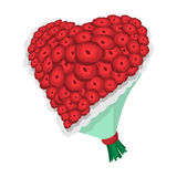 Rose flowers heart cartoon icon Royalty Free Stock Photography