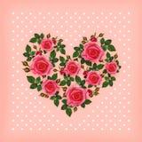 Rose flowers heart Stock Photo