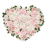 Rose flowers in a heart shape symbol Stock Photos