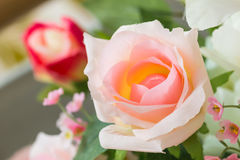 Rose  flowers made from fabric Stock Photography