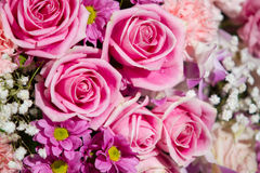 Rose flowers mixed bouquet Stock Photo