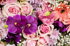Rose flowers mixed bouquet Royalty Free Stock Photos