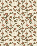 Rose Flowers Pattern Background in Retro Style Illustration Vector. Royalty Free Stock Photo
