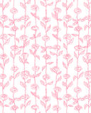 Rose Flowers Pattern Background Vector rosa Fotografie Stock