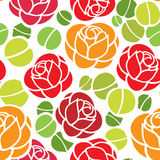 Rose flowers seamless background Stock Images