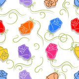Rose flowers seamless Royalty Free Stock Photography
