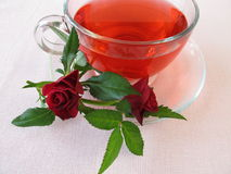 Rose flowers tea Royalty Free Stock Images