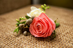 Rose flowers in Vintage wedding bouquet royalty free stock images