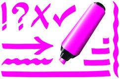 Rose fluorescent de marqueur illustration libre de droits