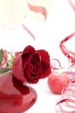 rose form för hjärtared Arkivbilder