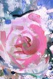 Rose, fragment de la peinture Image stock