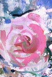Rose, fragment of painting Stock Image