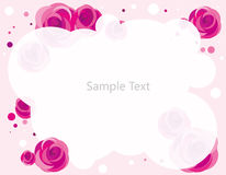 Rose frame. Illustration of pink Rose frame Stock Photography