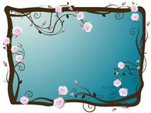 Rose frame Royalty Free Stock Image