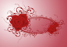 Rose frame Stock Image