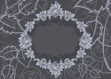 Rose frame background Royalty Free Stock Images