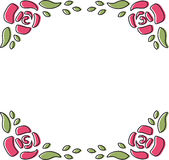 Rose Frame Doodle Royalty Free Stock Photography