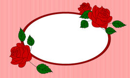 Rose  frame illustration Royalty Free Stock Image