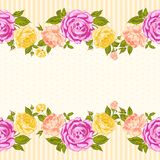 Rose frame invitation card. Royalty Free Stock Photography
