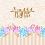 Rose frame invitation card. Royalty Free Stock Photos