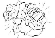 Rose 004. Frames with roses for titles, decor, coloring for children stock illustration