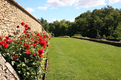 Rose garden. In the grounds of Villandry Castle in the Loire Valley France Stock Photo