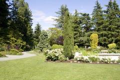 Rose garden stock photos