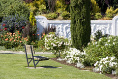 Rose garden. With beautiful designs at Woodland Park Zoo Stock Photo