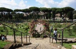 Rose Garden em Roma imagens de stock royalty free