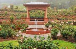 Rose garden gazebo Royalty Free Stock Photography