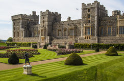 Rose garden at historic Windsor Castle in England Royalty Free Stock Photography