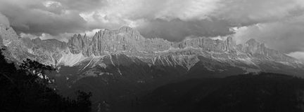 Rose garden mountains. At the dolomite alps, south tyrol stock image