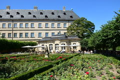 Rose garden of the residence in Bamberg, Germany Royalty Free Stock Image