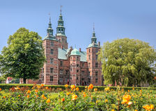Rose Garden and Rosenborg Palace in Copenhagen Royalty Free Stock Images