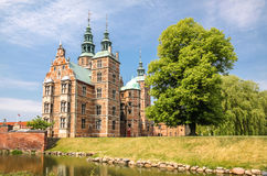 Rose Garden and Rosenborg Palace in Copenhagen Stock Image