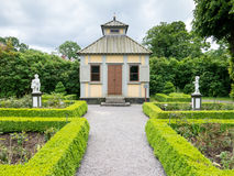Rose garden in Skansen museum, Stockholm Royalty Free Stock Photo