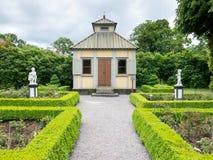 Rose garden in Skansen museum, Stockholm Royalty Free Stock Photo
