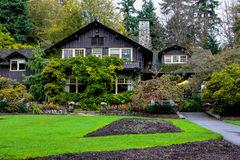 Rose Garden, Stanley Park, Vancouver, BC. Royalty Free Stock Images