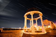 Rose garden star trail Royalty Free Stock Photography