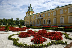 Rose garden in Wilanow palace, Warsaw Royalty Free Stock Photos