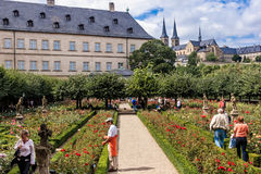 The rose Garden - World Heritage Bamberg Royalty Free Stock Images