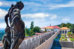 Rose gardens at Decin castle, Czech republic Royalty Free Stock Photo