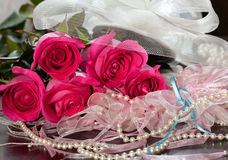 Rose and garter Stock Image