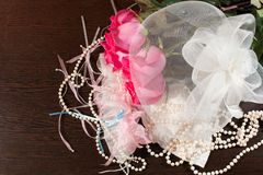 Rose and garter Royalty Free Stock Images