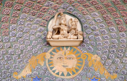 Rose Gate på Chandra Mahal, Jaipur stadsslott fotografering för bildbyråer
