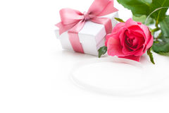 Rose and gift box Stock Photo