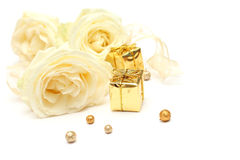 Rose and gift - holiday concept Royalty Free Stock Images