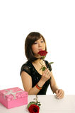 Rose Girl Royalty Free Stock Photography
