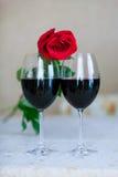Rose And Glasses Royaltyfria Foton